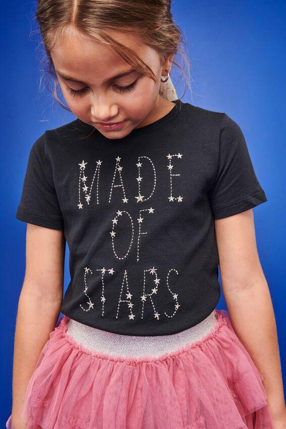 Stevie Ss Embellished Tee, PHANTOM/MADE OF STARS