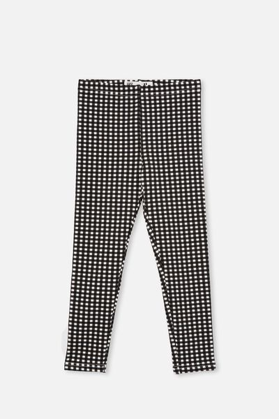 Fleece Legging, BLACK GINGHAM
