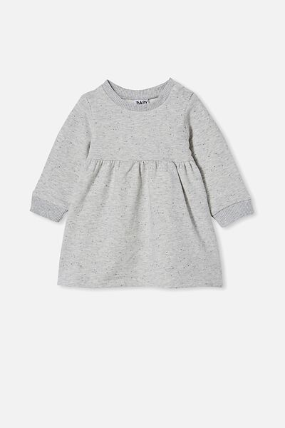 Tina Fleece Dress, CLOUD MARLE/RABBIT GREY NEP