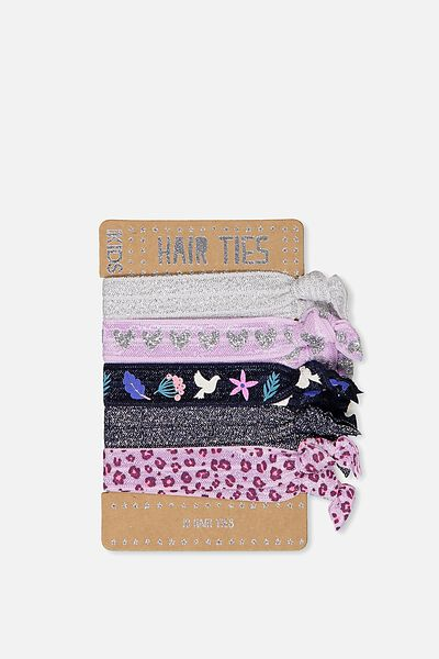 Knot Messy Hairties, METALLIC/FLORAL