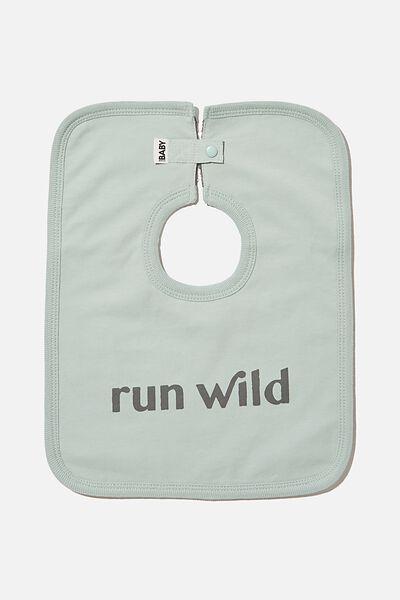 The Everyday Bib, STONE GREEN/RUN WILD