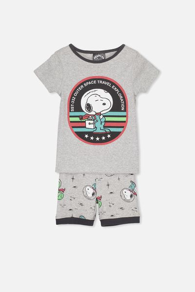 Joshua Short Sleeve Pyjama Set, LCN ASTRO SNOOPY
