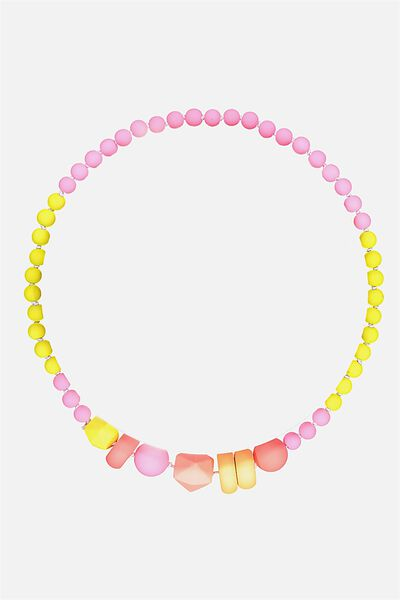 Mixed Beaded Necklace, BANG BANG RAINBOW