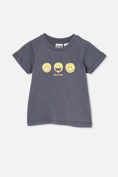 Jamie Short Sleeve Tee-License, LCN SMI VINTAGE NAVY/SMILEY FACES
