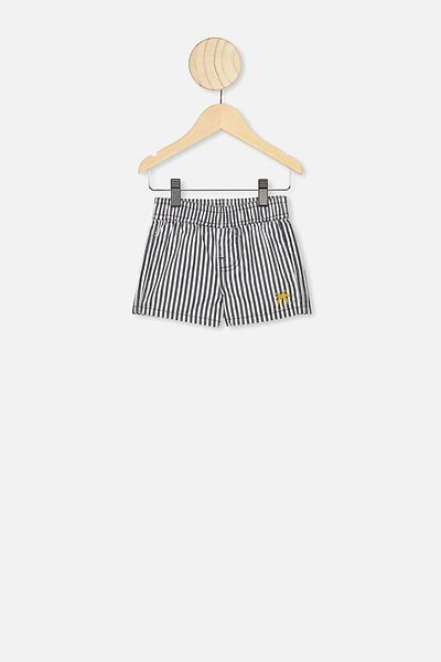 Jerry Boardshort, NAVY/WHITE VERTICAL STRIPE