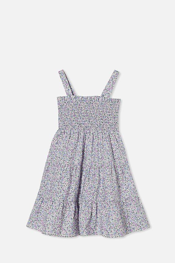 Mae Sleeveless Dress, BLUE TORQUAY DITSY