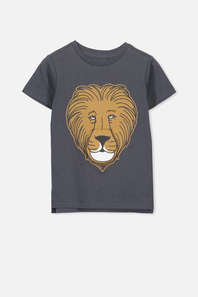 Max Short Sleeve Tee, GRAPHITE LION ROAR/SIS
