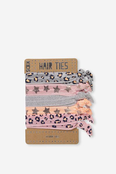 Knot Messy Hairties, PINK LEOPARD