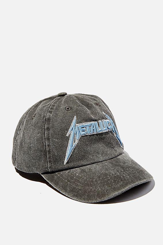 Licensed Baseball Cap Old Style Number, LCN METALLICA BLACK