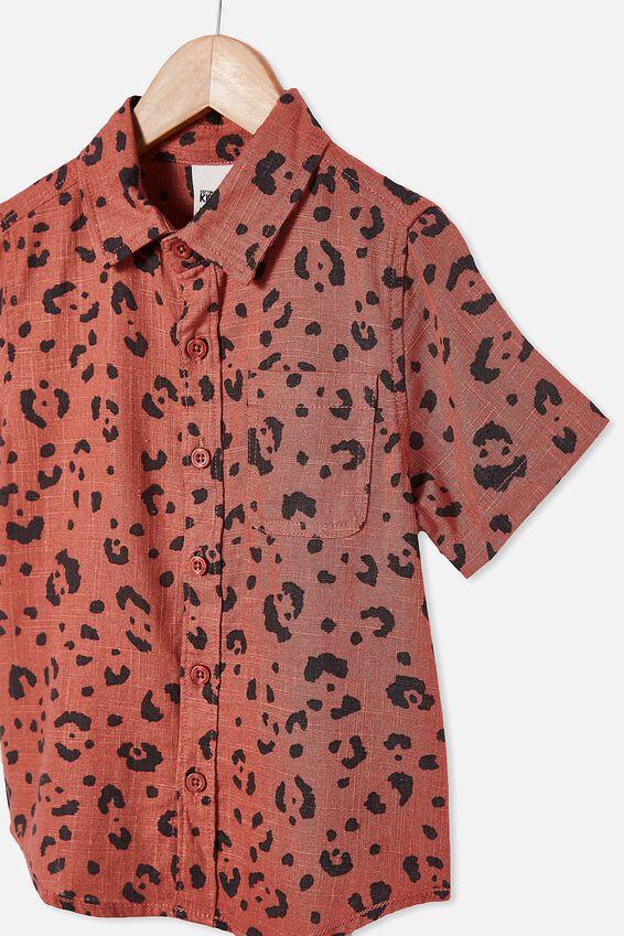Resort Short Sleeve Shirt, CHEETAH/CHUTNEY