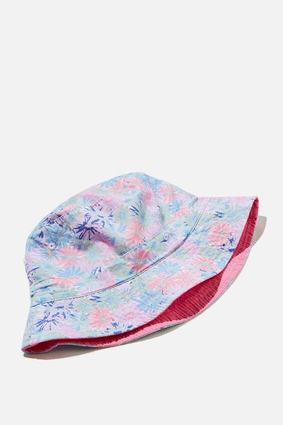 Kip&Co Reversible Bucket Hat, LCN KIP PETAL POWER