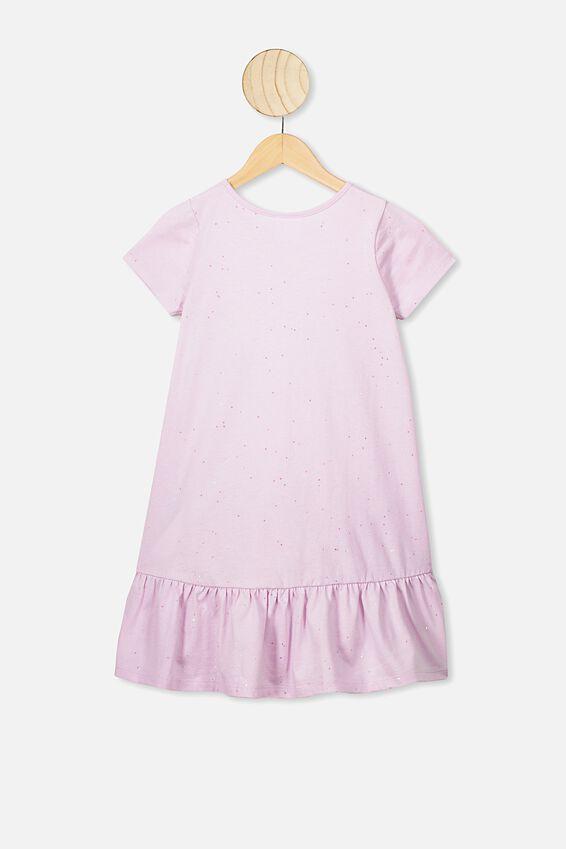 Joss Short Sleeve Dress, LAVENDER FOG/GALACTIC SPARKLE