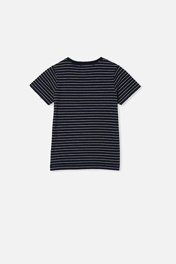 Core Ss Tee, INDIAN INK/WHITE STRIPE