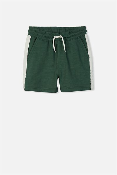 Henry Slouch Short, WASHED EMERALD/STRIPE