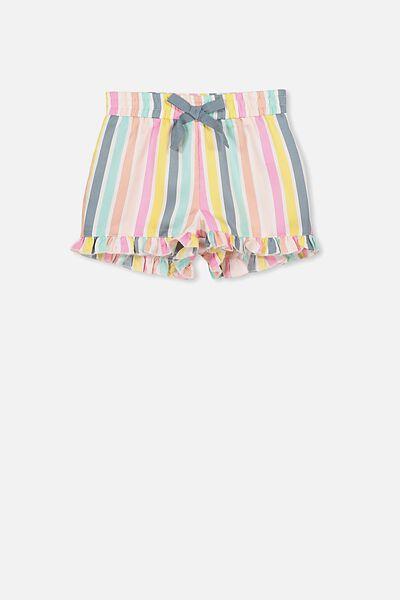 Girls Pyjama Short, G MULTI STRIPE