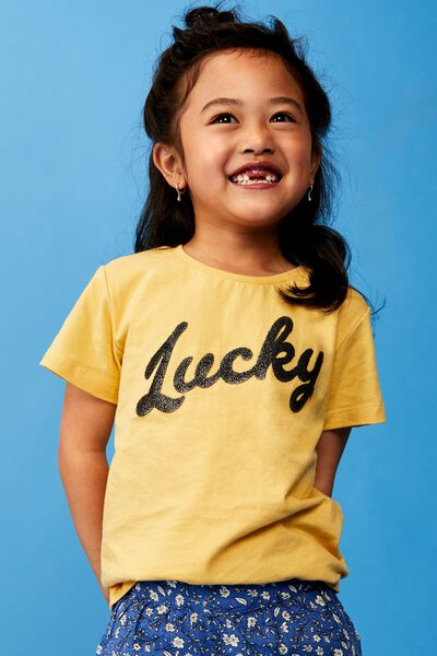 Stevie Ss Embellished Tee, CORN SILK/LUCKY/MAX