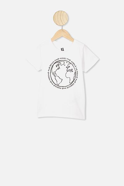 Max Short Sleeve Tee, WHITE/BE KIND