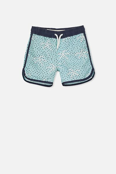 Murphy Swim Short, WASHED AQUA/PALMS