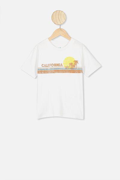 Max Skater Short Sleeve Tee, WHITE/CALIFORNIA