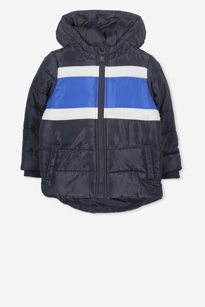 Peyton Puffer Jacket, NAVY/PANEL