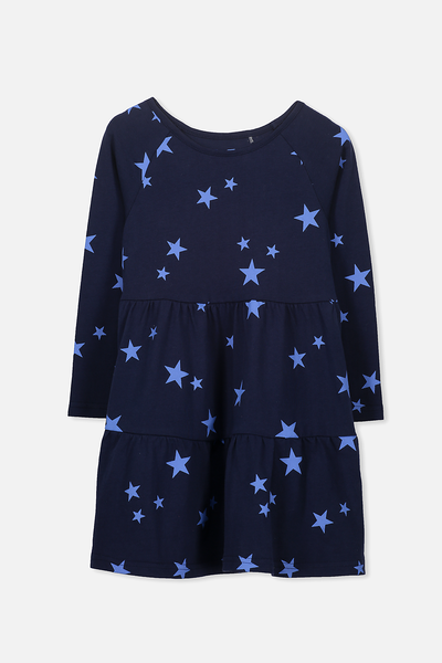 Maddie Long Sleeve Dress, PEACOAT/MARINA STARS