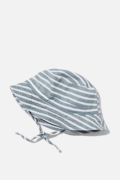 Baby Bucket Hat, DEEP POOL BLUE/STRIPE