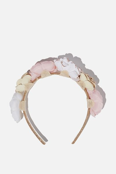 Headband - Floral, PINK WHITE FLORAL