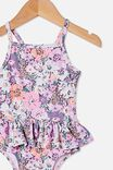 Lucinda Ruffle Swimsuit, DUSK PURPLE/FLORAL BOUQUET