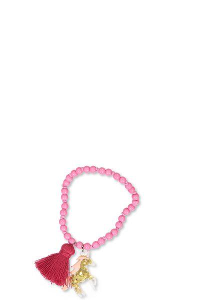 Animal Charm Bracelet, UNICORN AZALEA PINK