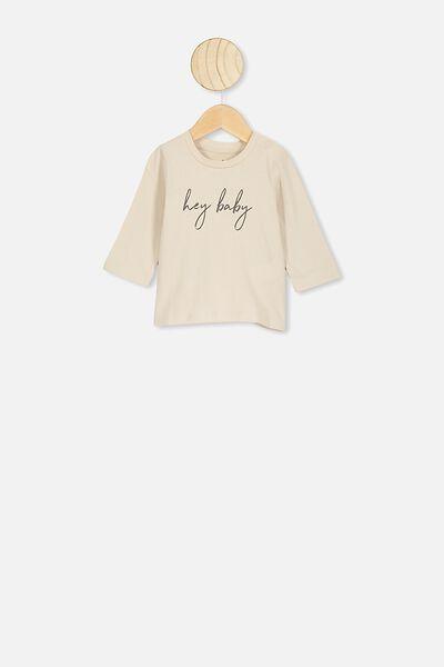 Jamie Long Sleeve Tee, RAINY DAY/HEY BABY