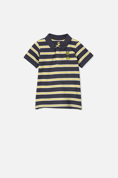 Kendricks Polo, PARISIAN NIGHT/STRIPE PINEAPPLE