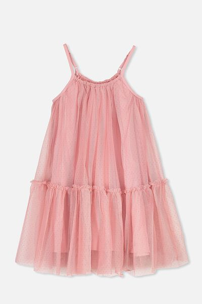 Iggy Dress Up Dress, DUSTY ROSE/SPARKLE DOT