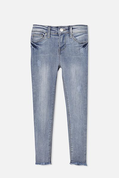 Didi Rip & Repair Jean, MID BLUE WASH