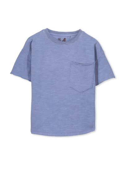 Anthony Active Ss Tee, WASHED CORNFLOWER