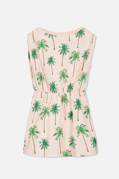 Cathy Short Sleeve Dress, BLOSSOM/PALMS