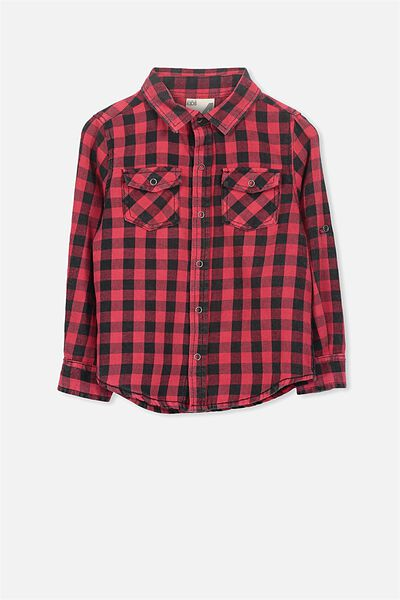 Noah Long Sleeve Shirt, RED PHANTOM SW CHECK