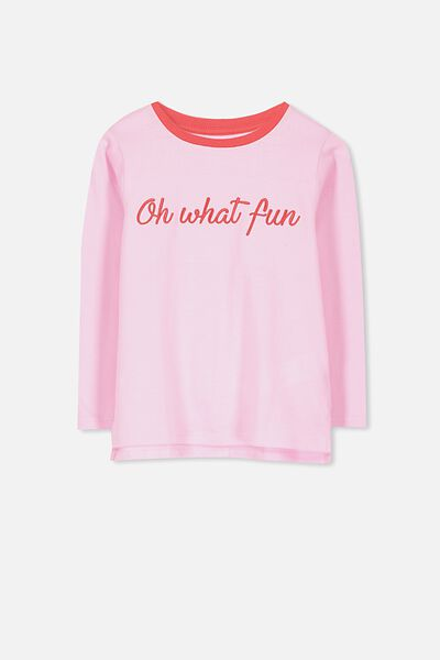 Anna Long Sleeve Tee, LILAC SACHET/OH WHAT FUN/SET IN