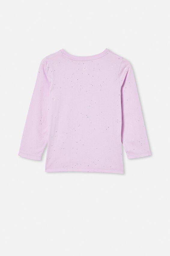 Penelope Long Sleeve Tee, PALE VIOLET/GALACTIC SPARKLE