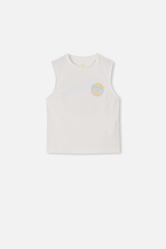 Otis Muscle Tank, RETRO WHITE/ RIDE THE WAVE
