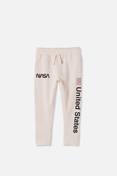 License Slouch Trackpant, LCN NAS NASA VINTAGE/DARK VANILLA