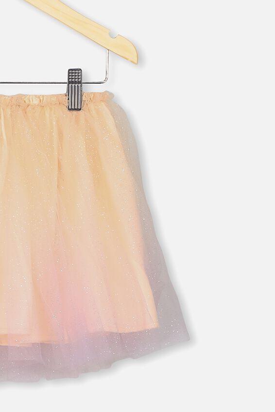 Trixibelle Tulle Skirt, PEACH & LILAC GRADIENT/MIDI