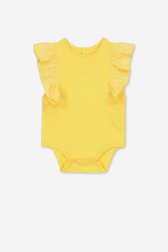 Katie Ruffle Bubbysuit, SUNSET GOLD