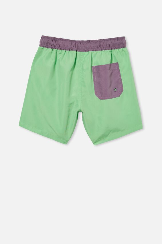 Bailey Board Short, SPEARMINT/DUSK PURPLE WB