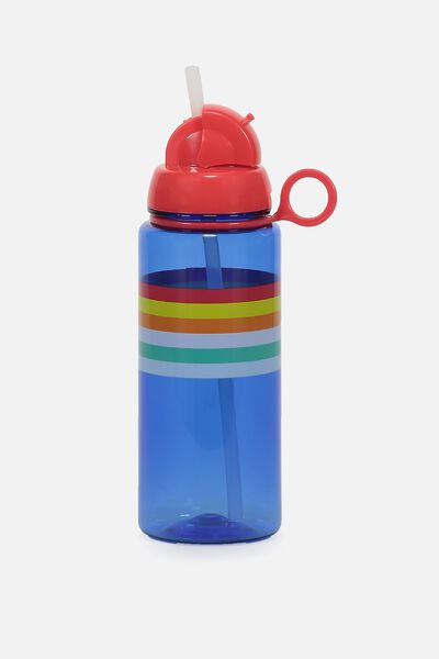 Spring Drink Bottle, BLUE STRIPE