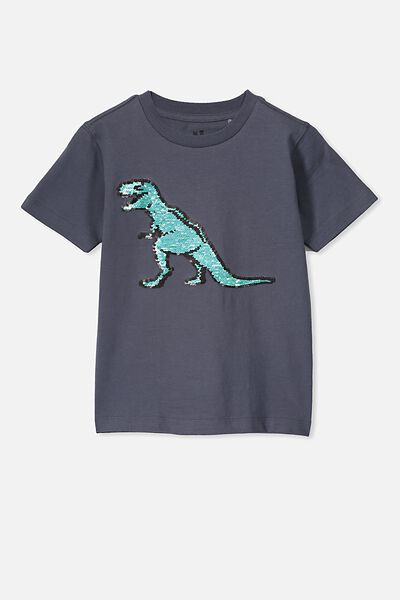 The Downtown Short Sleeve Tee, INDIAN INK/SEQUIN TREX