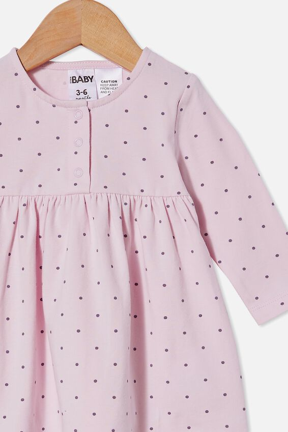 Molly Long Sleeve Dress, LAVENDER FOG/DUSK PURPLE BETTY SPOT