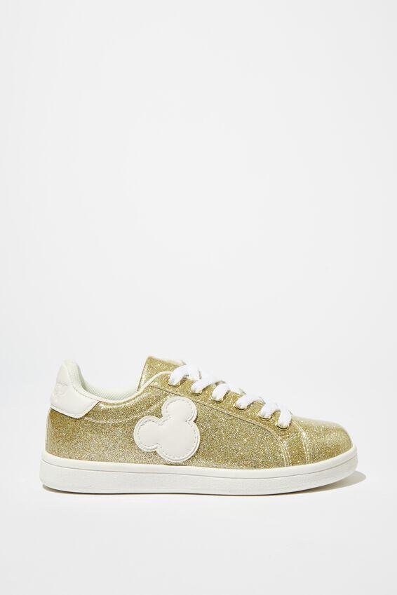 Tibi Sneaker, LCN DIS GOLD GLITTER MICKEY
