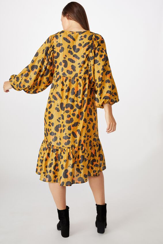 Kip&Co Mama Long Sleeve Dress, LCN KIP/LEOPARD