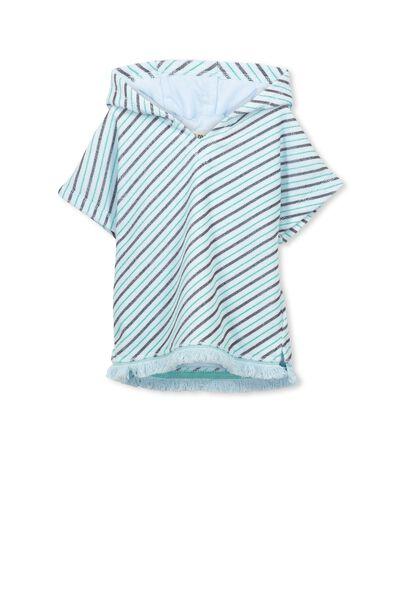 White Haven Swim Towel, YOLO BLUE/STRIPE