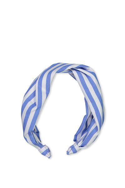 Twisted Ruched Headband, VERTICAL STRIPE MARINA